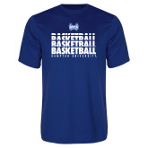 Syntrel Performance Royal Tee-Basketball Stacked Design