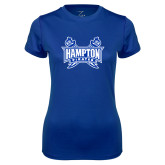 Ladies Syntrel Performance Royal Tee-Hampton Pirates Swords