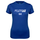 Ladies Syntrel Performance Royal Tee-LAX Design