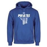 Royal Fleece Hoodie-Basketball Net Design