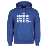 Royal Fleece Hoodie-Basketball Stacked Design