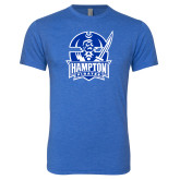 Next Level Vintage Royal Tri Blend Crew-Hampton Pirates