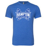 Next Level Vintage Royal Tri Blend Crew-Hampton Pirates Swords