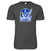 Next Level SoftStyle Charcoal T Shirt-Hampton Pirates