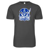 Next Level SoftStyle Charcoal T Shirt-Hampton Pirates