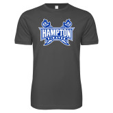 Next Level SoftStyle Charcoal T Shirt-Hampton Pirates Swords
