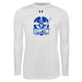 Under Armour White Long Sleeve Tech Tee-Hampton Pirates