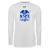 Under Armour White Long Sleeve Tech Tee-Hampton Pirates