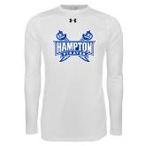 Under Armour White Long Sleeve Tech Tee-Hampton Pirates Swords