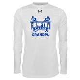 Under Armour White Long Sleeve Tech Tee-Grandpa