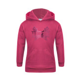 Youth Raspberry Fleece Hoodie-Hampton Pirates Swords