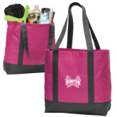 Tropical Pink/Dark Charcoal Day Tote-Hampton Pirates Swords