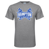 Grey T Shirt-Hampton Pirates Swords