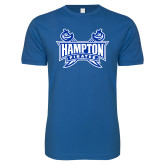 Next Level SoftStyle Royal T Shirt-Hampton Pirates Swords