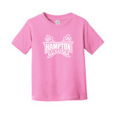 Toddler Pink T Shirt-Hampton Pirates Swords