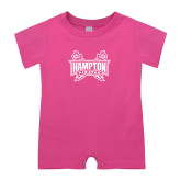 Bubble Gum Pink Infant Romper-Hampton Pirates Swords