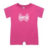 Bubble Gum Pink Infant Romper-Hampton Pirates Swords