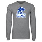Grey Long Sleeve T Shirt-Hampton Lady Pirates