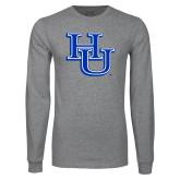 Grey Long Sleeve T Shirt-HU