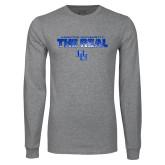 Grey Long Sleeve T Shirt-The Real HU