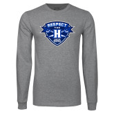Grey Long Sleeve T Shirt-Respect The H