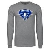 Grey Long Sleeve T Shirt-Respect The H