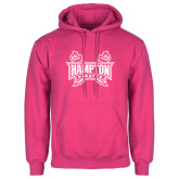 Fuchsia Fleece Hoodie-Hampton Pirates Swords