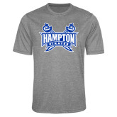 Performance Grey Heather Contender Tee-Hampton Pirates Swords
