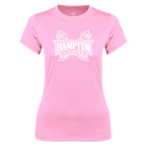 Ladies Performance Light Pink Tee-Hampton Pirates Swords