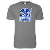 Next Level SoftStyle Heather Grey T Shirt-Hampton Pirates