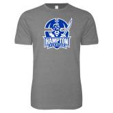 Next Level SoftStyle Heather Grey T Shirt-Hampton Pirates