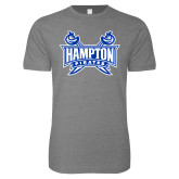 Next Level SoftStyle Heather Grey T Shirt-Hampton Pirates Swords