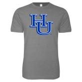 Next Level SoftStyle Heather Grey T Shirt-HU