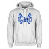 White Fleece Hoodie-Hampton Pirates Swords