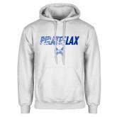 White Fleece Hoodie-LAX Design
