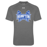 Under Armour Carbon Heather Tech Tee-Hampton Pirates Swords