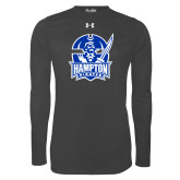 Under Armour Carbon Heather Long Sleeve Tech Tee-Hampton Pirates