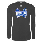 Under Armour Carbon Heather Long Sleeve Tech Tee-Hampton Pirates Swords