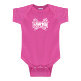 Fuchsia Infant Onesie-Hampton Pirates Swords