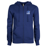 ENZA Ladies Royal Fleece Full Zip Hoodie-Hampton Pirates