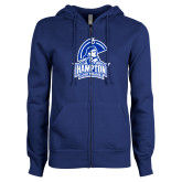 ENZA Ladies Royal Fleece Full Zip Hoodie-Hampton Lady Pirates