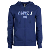 ENZA Ladies Royal Fleece Full Zip Hoodie-LAX Design