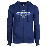 ENZA Ladies Royal Fleece Full Zip Hoodie-Track and Field Shoe Design