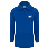 Columbia Ladies Half Zip Royal Fleece Jacket-Hampton Pirates Swords