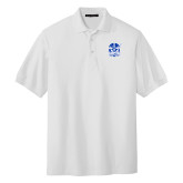 White Easycare Pique Polo-Hampton Pirates
