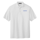 White Easycare Pique Polo-University Mark