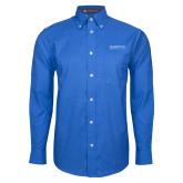 Mens Royal Oxford Long Sleeve Shirt-University Mark
