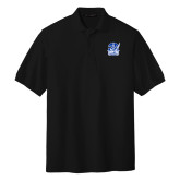 Black Easycare Pique Polo-Hampton Pirates