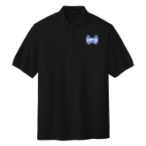 Black Easycare Pique Polo-Hampton Pirates Swords