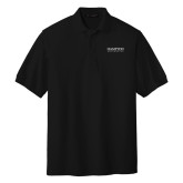 Black Easycare Pique Polo-University Mark
